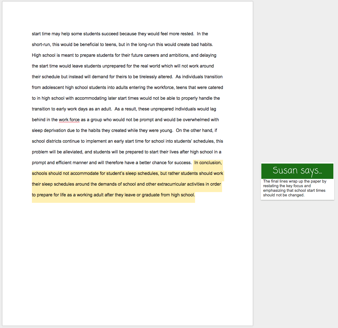 Example Of Essay Outline With Thesis