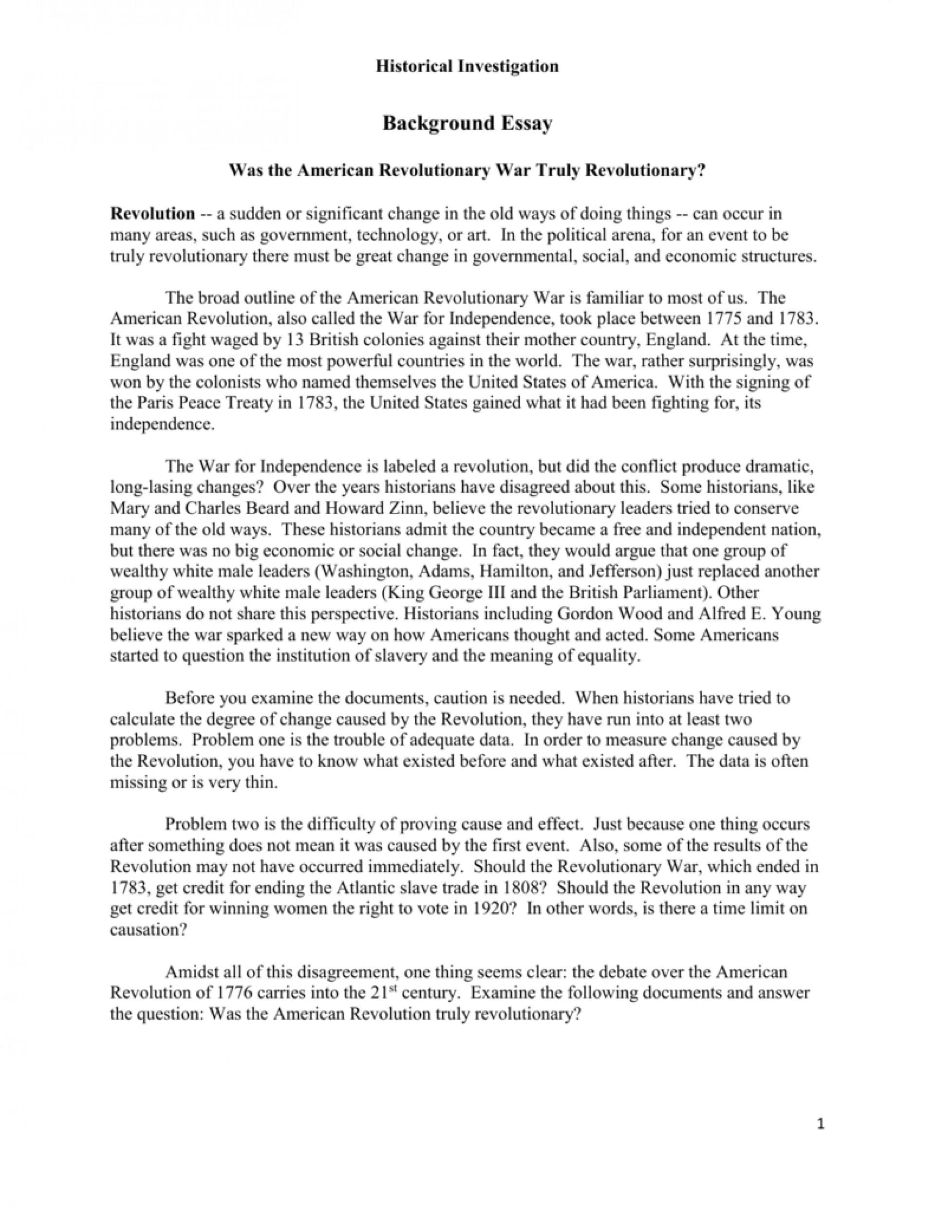 016 American Revolution Timeline Worksheet Essay
