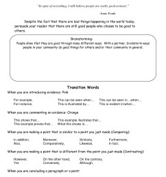Writing Transitions Worksheet   Printable Worksheets and Activities for  Teachers [ 1650 x 1275 Pixel ]