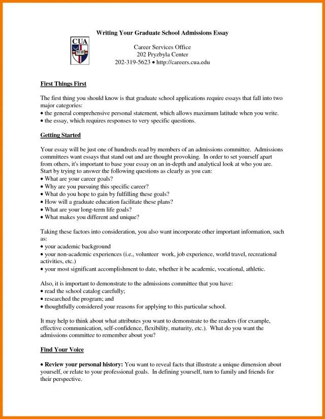 Graduate admission essay help personal statement