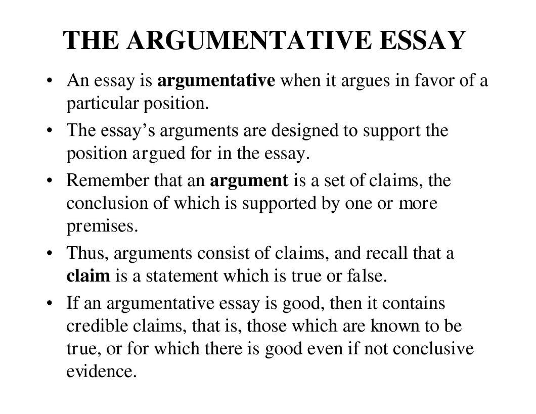 How To Write An Argumentative Essay Conclusion Example