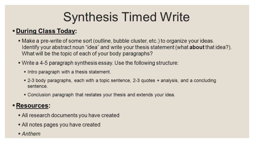 anthem essay examples