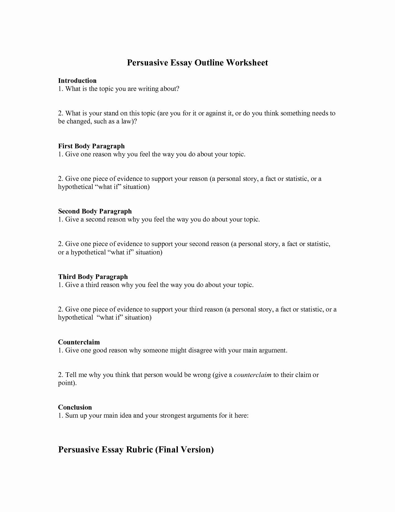 022 Persuasive Writing Prompts Letter Essay Template