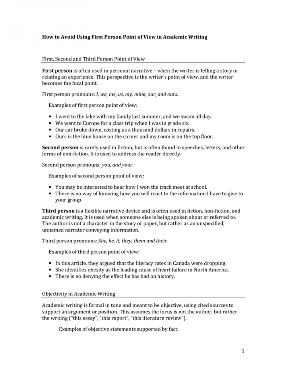 medium resolution of Third Person Point Of View Worksheet   Printable Worksheets and Activities  for Teachers