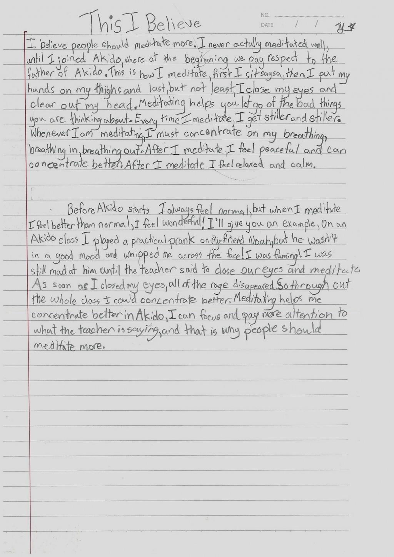 Stupendous This I Believe Essay Examples ~ Thatsnotus