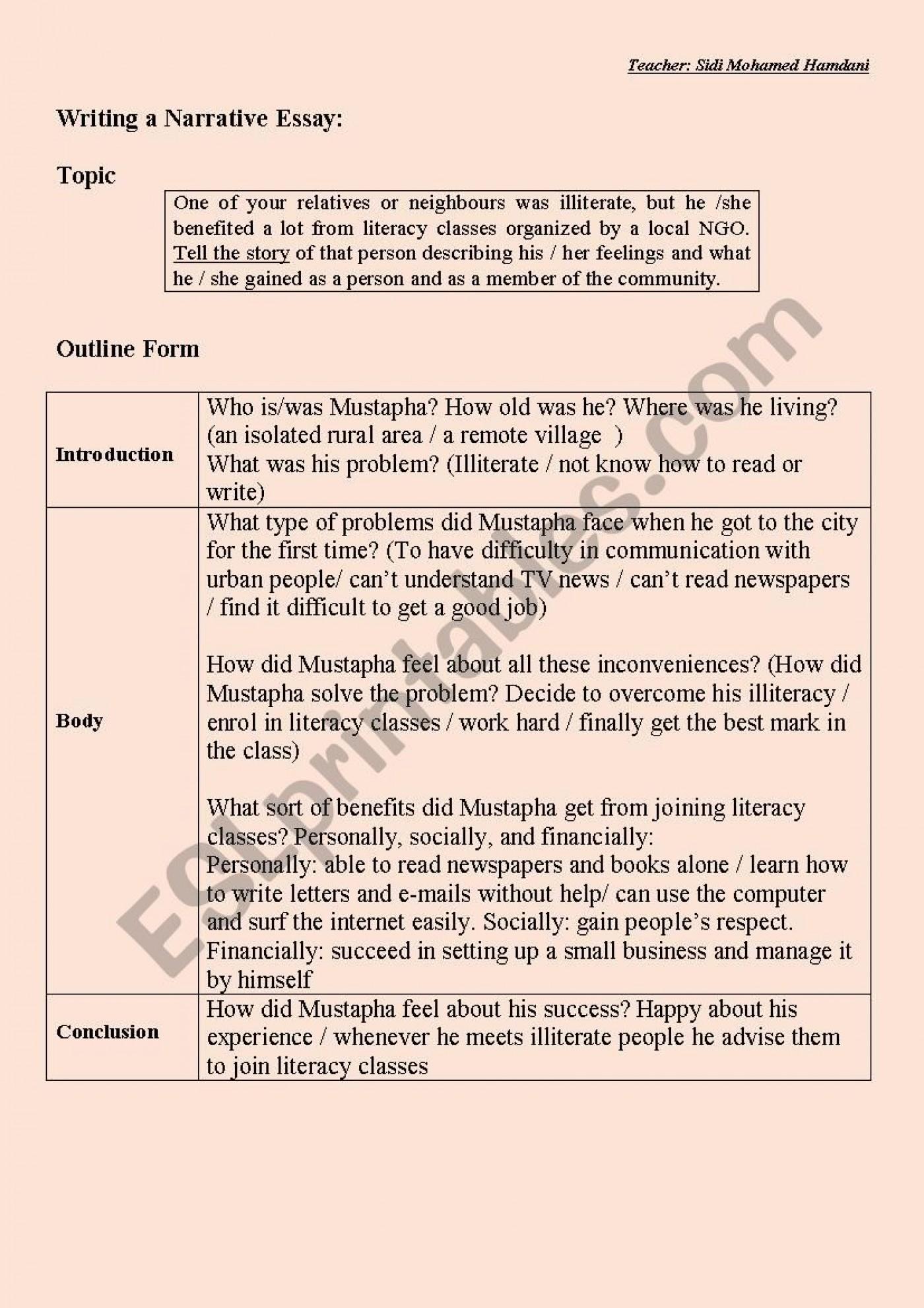 009 Sample Short Essay Family Essays English My Example