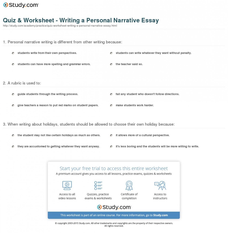 005 Personal Narrative Essays Essay Example Examples High