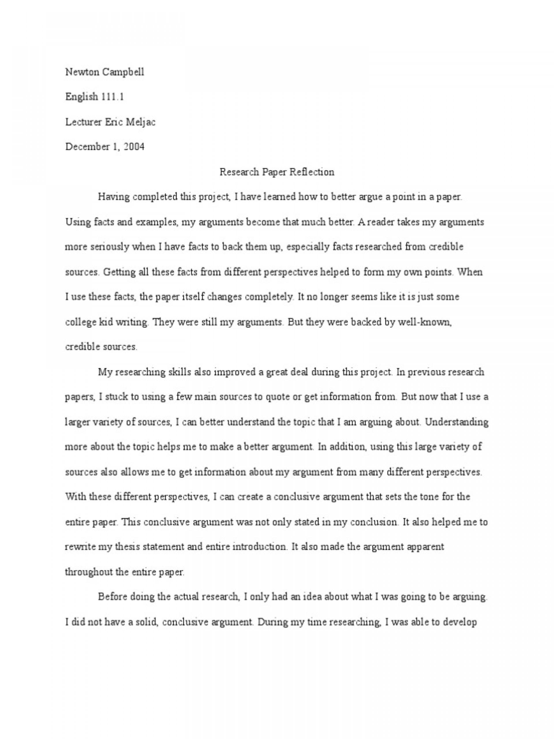 028 Reflective Essay On Academic Writing Thatsnotus