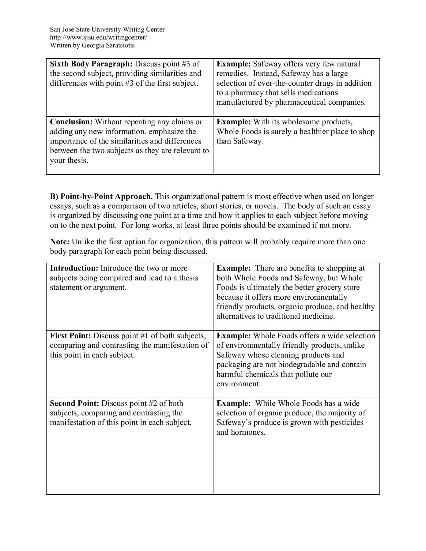 016 Quiz Worksheet Compare Contrast Essays Essay Example