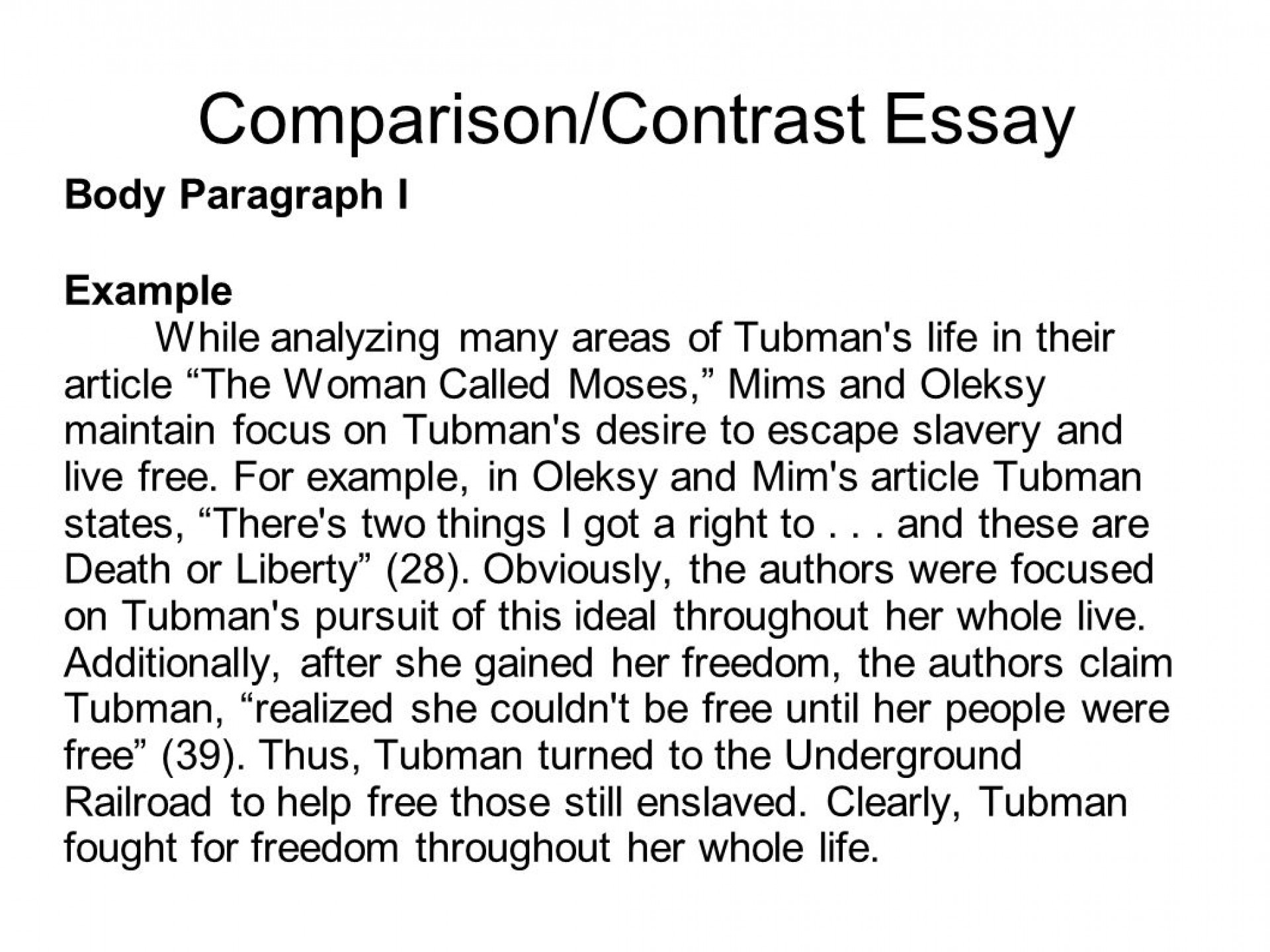 007 How To Write Compare And Contrast Essay Thatsnotus
