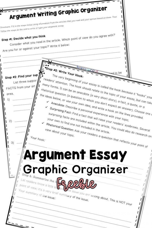 Incredible Argumentative Essay Graphic Organizer ~ Thatsnotus