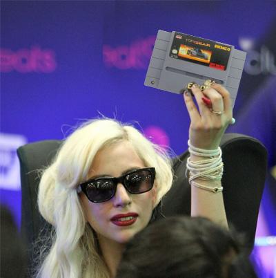 Lady Gaga vs. Super NES Top Gear