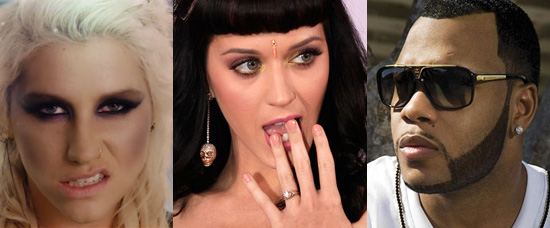 Kesha vs. Katy Perry vs. Flo Rida