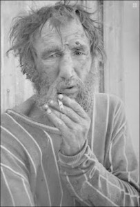 Man smoking-amazing pencil art by Paul Cadden