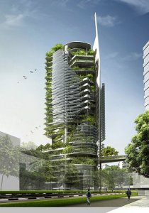 Food Tower, in the city of the future