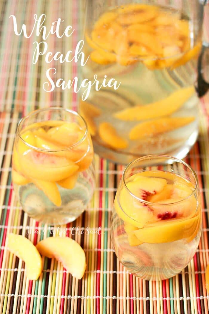 White Peach Sangria Cocktail