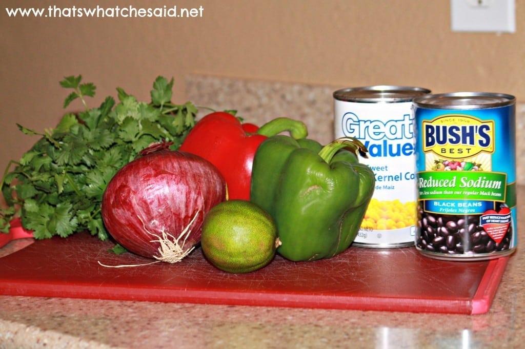 Corn & Black Bean Salsa Ingredients