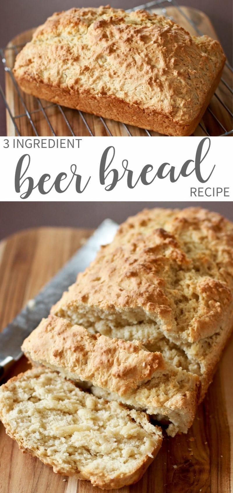 3 Ingredient Easy Beer Bread Recipe