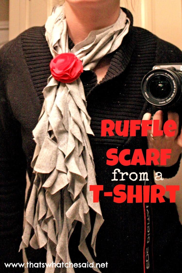 DIY Ruffle Scarf from a T-Shirt