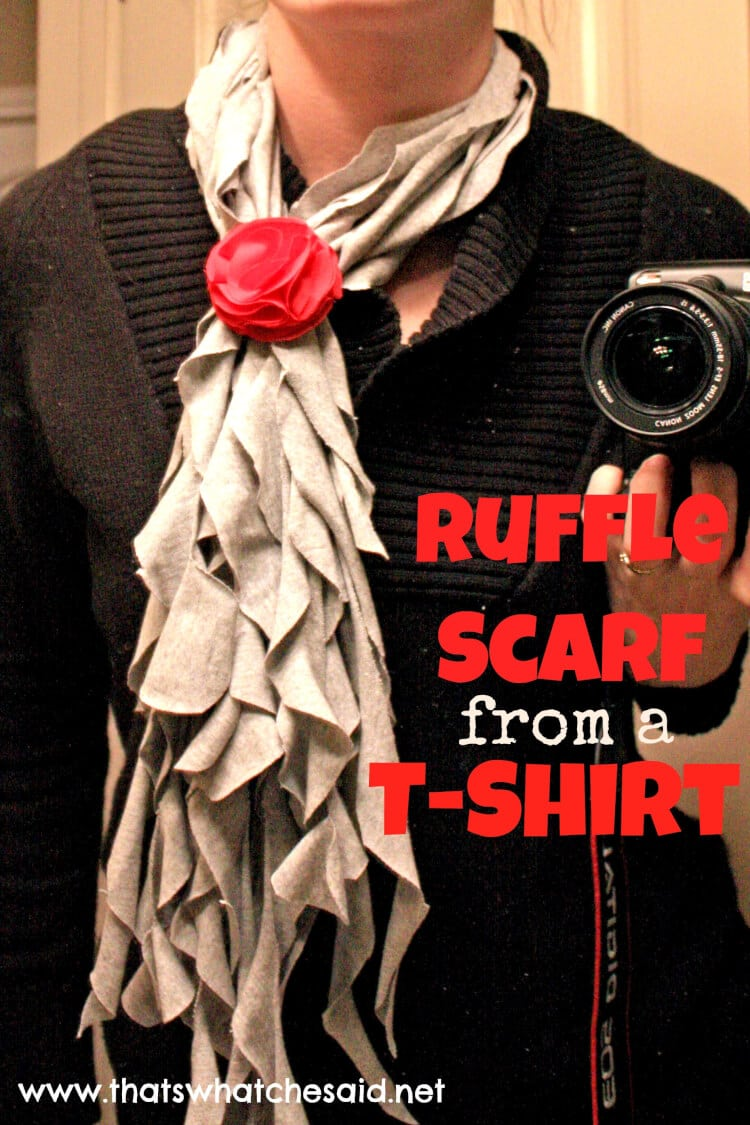 DIY Ruffle Scarf from a T-Shirt