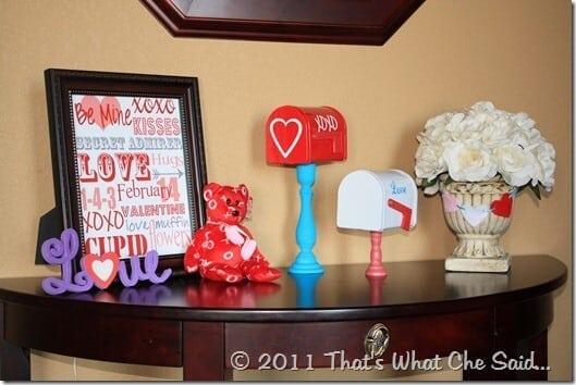 Valentine's Day Make Shift Mantle