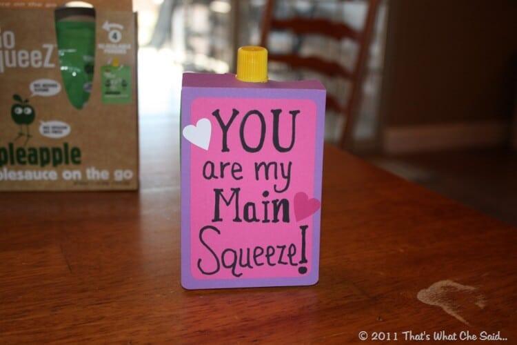 Main Squeeze Toddler Valentine Idea