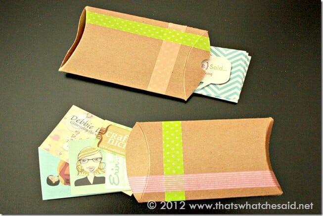 Pillow Box Business Card Holders