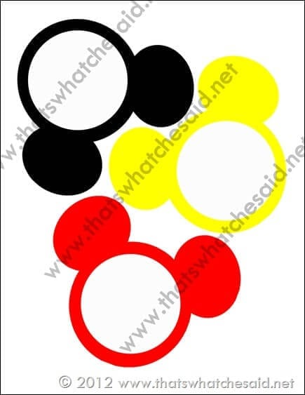 Mickey Mouse Banner from thatswhatchesaid via Mandy's Party Printables
