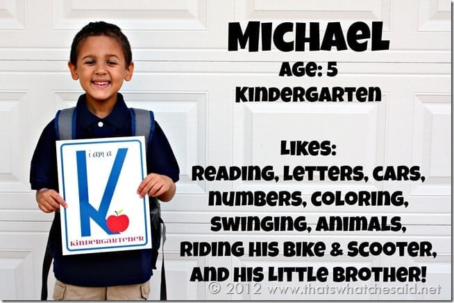 Blog Kindergarten first day