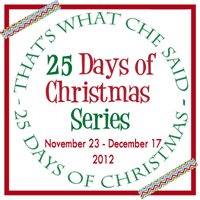 25 Days of Christmas Series Button 2012