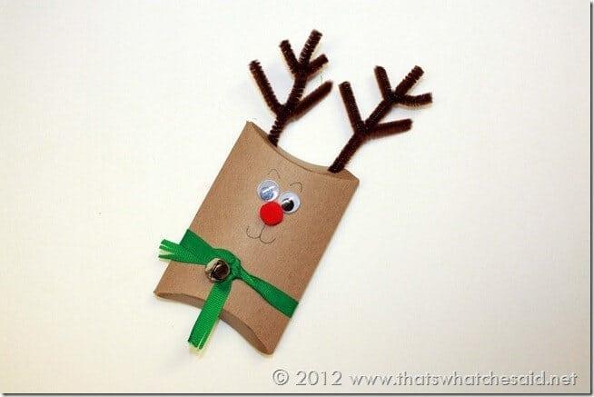 Pillow Box Reindeer