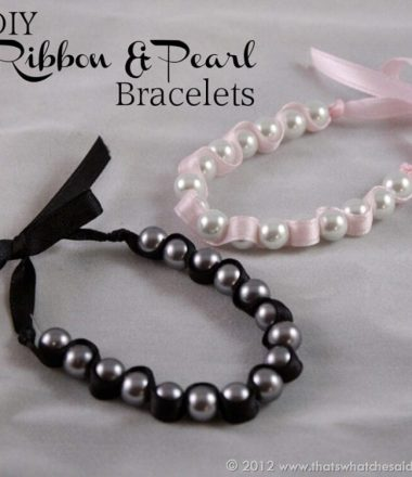 DIY Ribbon & Pearl Bracelets