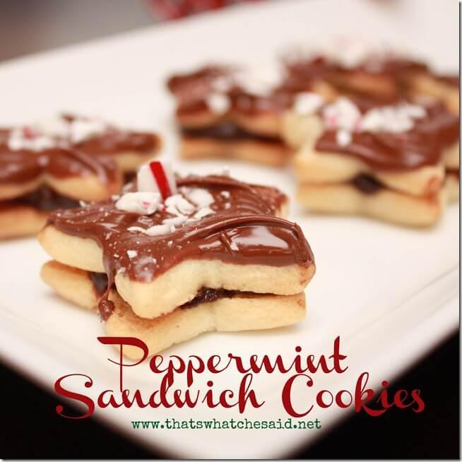 Peppermint Sandwich Cookies Square