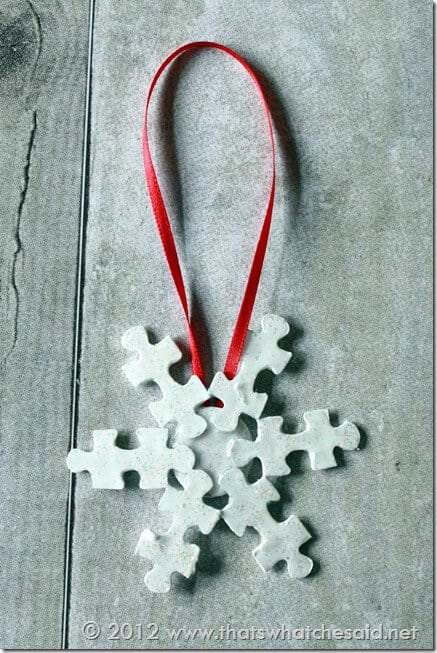 Kid's Craft, How to Make a Snowflake Ornament