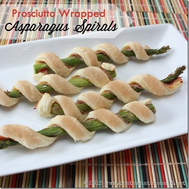 Proscuitto Wrapped Asparagus Spirals