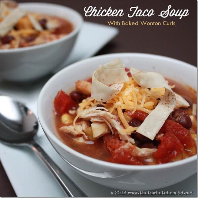Chicken Black Bean and Corn Taco Soup