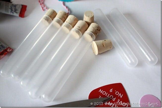 Love Potion Plastic Test Tubes