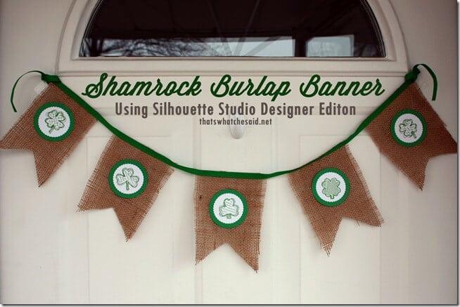 Shamrock Burlap Banner1