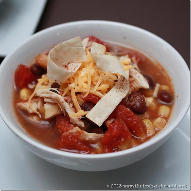 Taco Soup with Chicken and Black Beans
