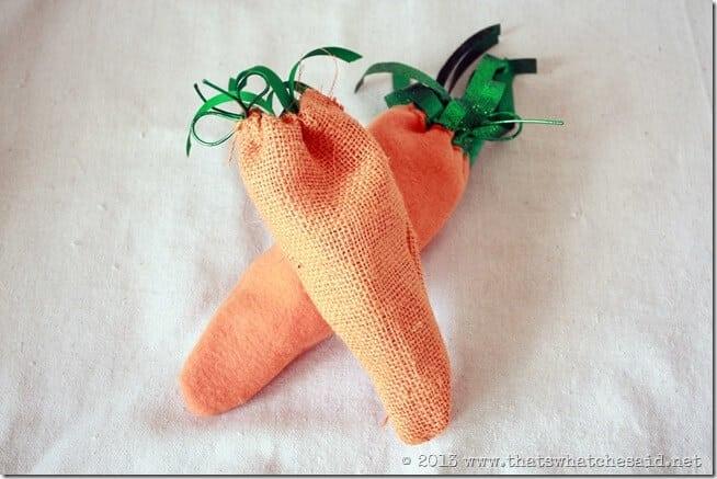 Burlap & Fleece Carrot Bags