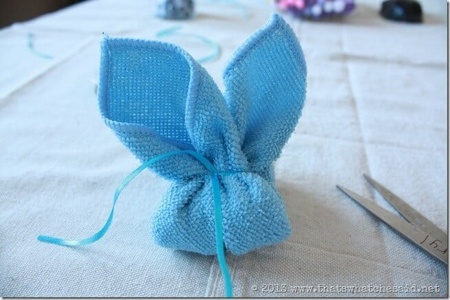 How to Make a Washcloth Boo-Boo Bunny
