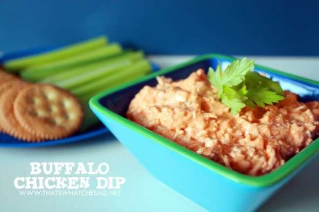 Crock Pot Buffalo Chicken Dip recipe at thatswhatchesaid.net