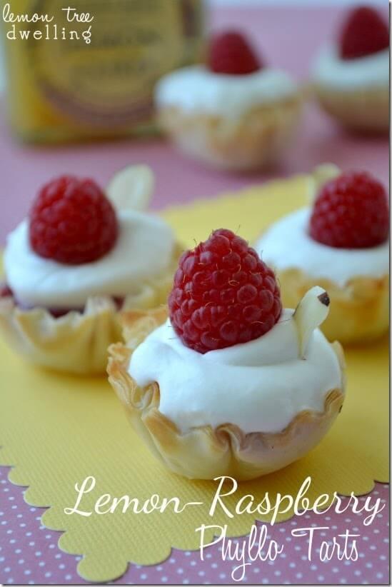 Lemon-Raspberry Phyllo Tarts 1