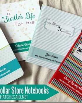 Personalized Dollar Store Notebook