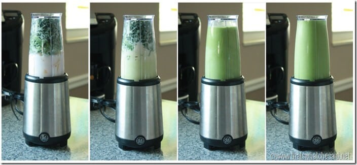 Blending a Green Smoothie