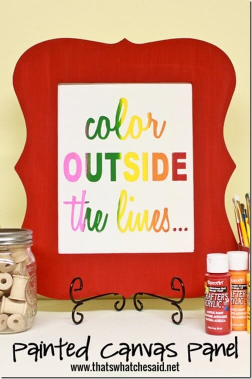 Color Outside the Lines Painted Canvas 1 at thatswhatchesaid.net