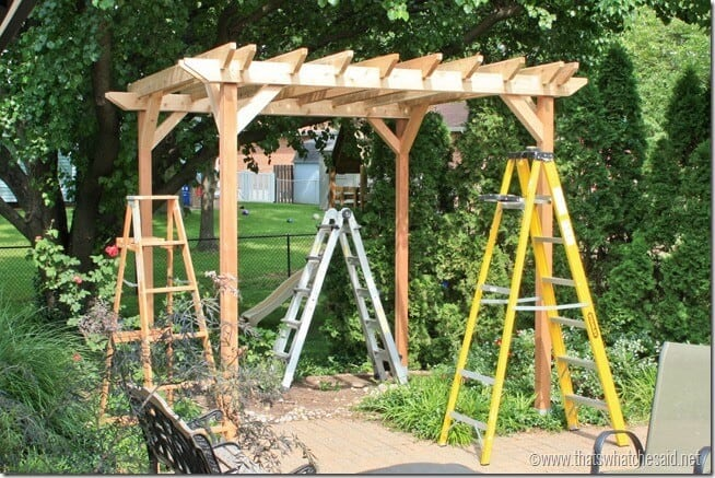 Pergola Project Cross Beams at thatswhatchesaid.net
