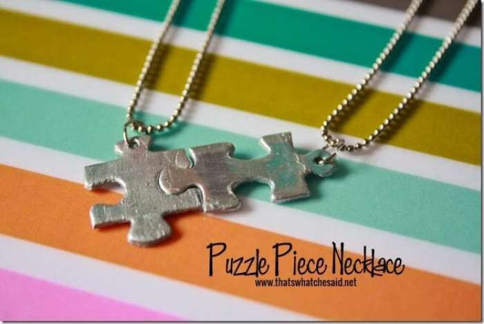 Puzzle PIece Necklace at thatswhatchesaid.net