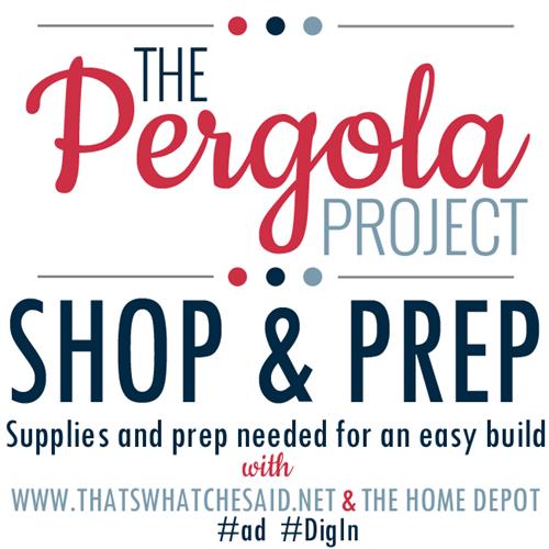 The Pergola Project Shop and Prep