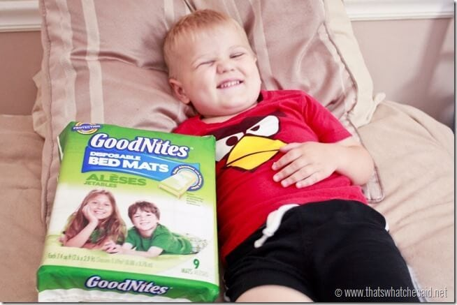 Little with GoodNites Bed Mats